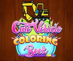 Cute Vehicle Coloring Book