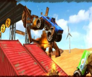 Monster Truck Impossible Track Plane Simulator